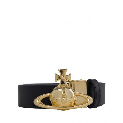 Gold Orb Buckle Belt