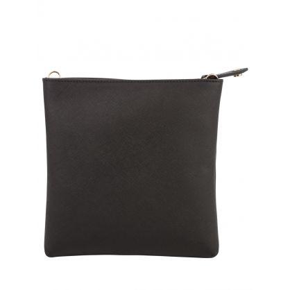 Black Web Strap Crossbody Bag