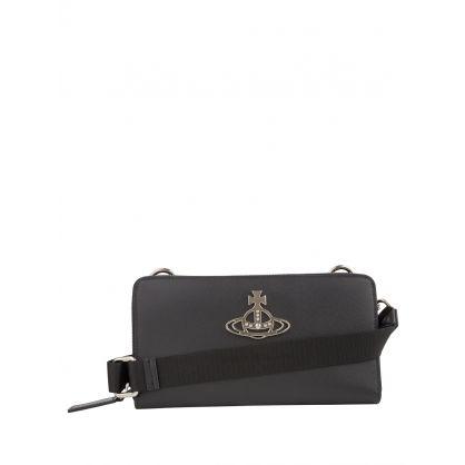 Black Crossbody Kent Wallet