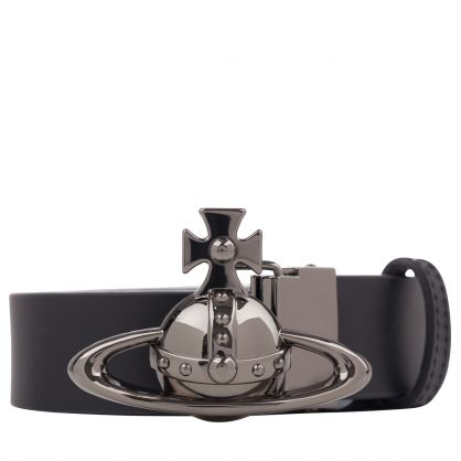 Black Orb Buckle Gun Metal Belt