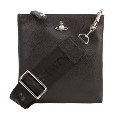Black Orb Square Crossbody Bag
