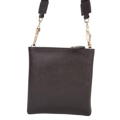 Black Orb Logo Square Crossbody Bag