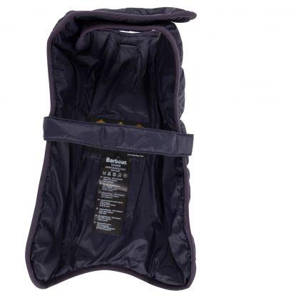 Navy Baffle Quilt Dog Coat