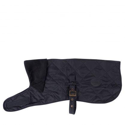 Black Quilted Dog Coat
