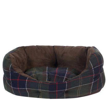 Green Tartan 24in Luxury Dog Bed