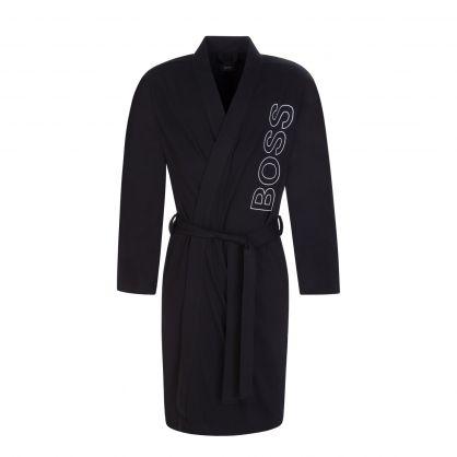 Black Bodywear Heavy-Cotton Identity Kimono