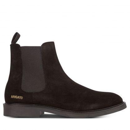 Black Suede Chelsea Boots