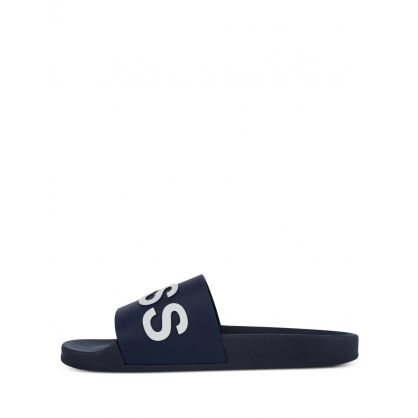Dark Blue Logo Bay Slides