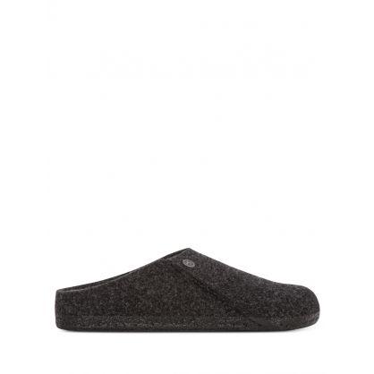 Grey Wool Felt Zermatt Rivet Slippers