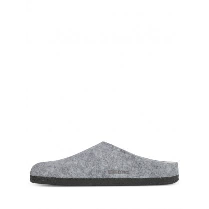 Grey Zermatt Wool Felt Slippers