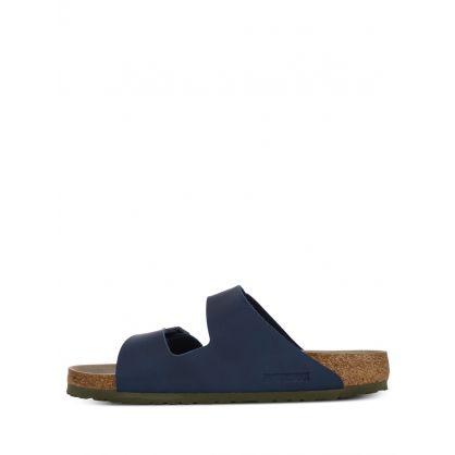 Navy Arizona Soft Footbed Birko-Flor Sandals
