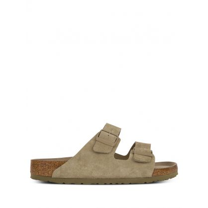 Khaki Arizona Soft Footbed Suede Leather Sandals