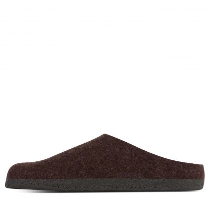 Brown Regular-Fit Zermatt Shearling Wool Felt Slippers