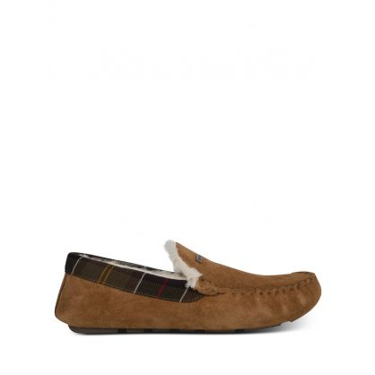 Brown Suede Monty Slippers