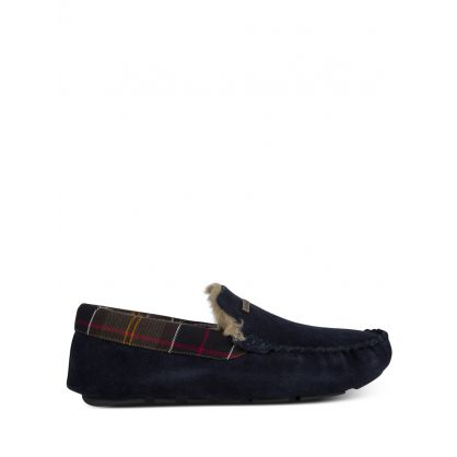 Navy Suede Monty Slippers