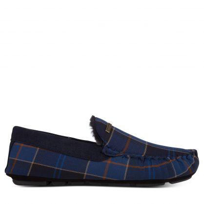 Midnight Blue Tartan Monty Slippers