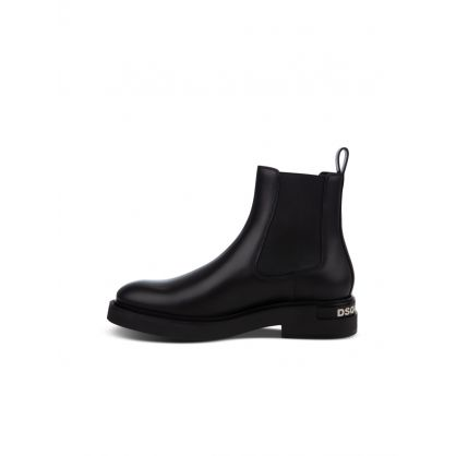Black Logo Chelsea Boots