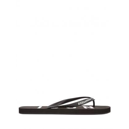 Black ICON Flip-Flops