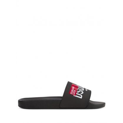Black Red Tag Slides