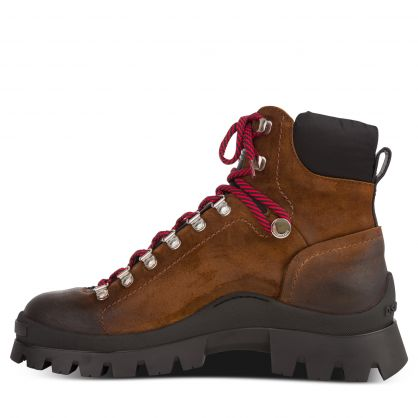 Brown Tank Hiking Boots