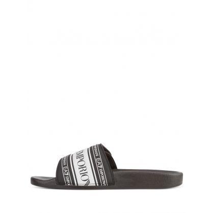 Black/White Velcro Slides
