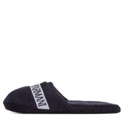 Dark Blue Cotton Sponge Slippers