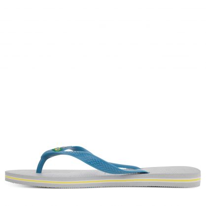 Ice Blue Brasil Logo Flip Flops