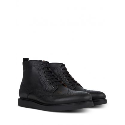 Black Calverston Brogue Boots