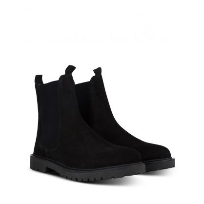 Black Brahms Suede Chelsea Boots