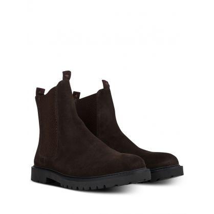 Brown Brahms Suede Chelsea Boots