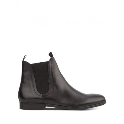 Black Atherstone Calf Leather Chelsea Boots