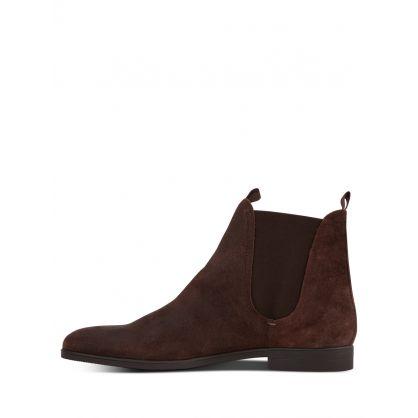 Dark Brown Atherstone Suede Chelsea Boots