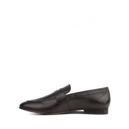 Black  London Bolton Saddle Loafers