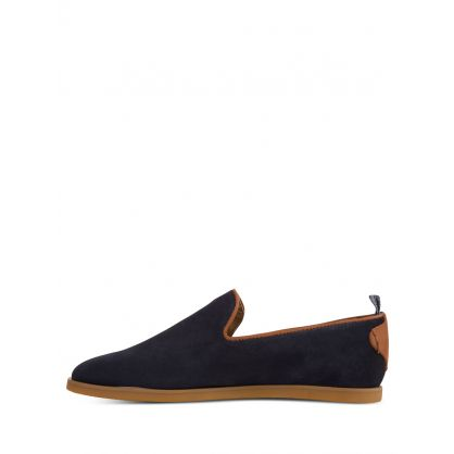 Navy Parker Suede Loafers