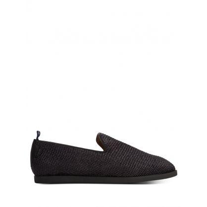 Black Parker Raffia Loafers