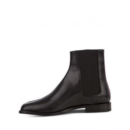 Black Split-Toe Tabi Ankle Chelsea Boots