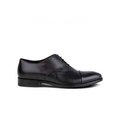 Black Leather 'Brent' Oxford Shoes