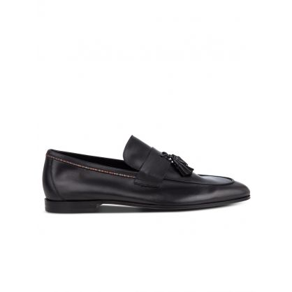 Black Leather 'Hilton' Loafers