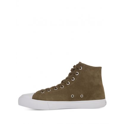 Khaki Suede 'Carver' Trainers