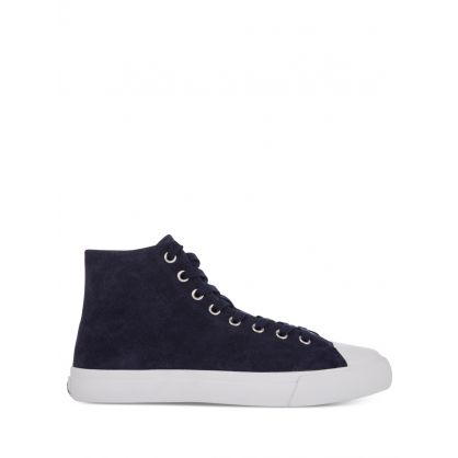 Navy Suede 'Carver' Trainers