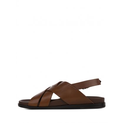Brown Leather 'Chandler' Sandals