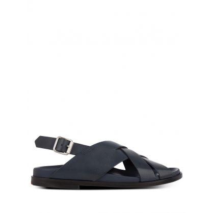 Dark Navy Leather 'Chandler' Sandals