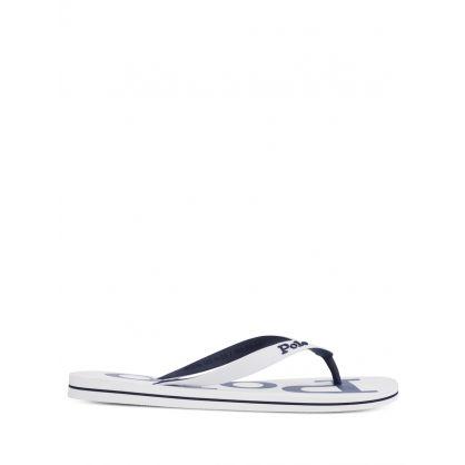 White/Navy Bolt Flip Flops