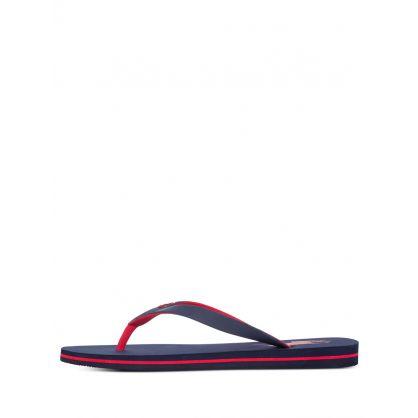 Navy Bolt Sandals