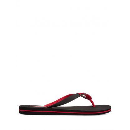 Black Bolt Flip Flops
