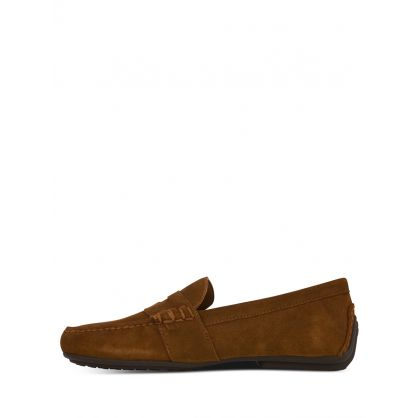 Brown Reynolds Suede Driver Loafers