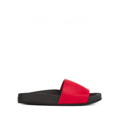 Black/Red Big Pony Cayson Slides