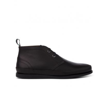 Black Leather 'Cleon' Boots