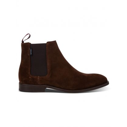 Brown Suede Leather 'Gerald' Chelsea Boots