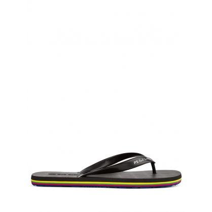 Black Dale Flip Flops